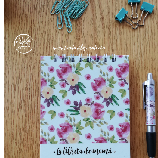 Libreta Mamá flores dream on paper solo para ti (2)