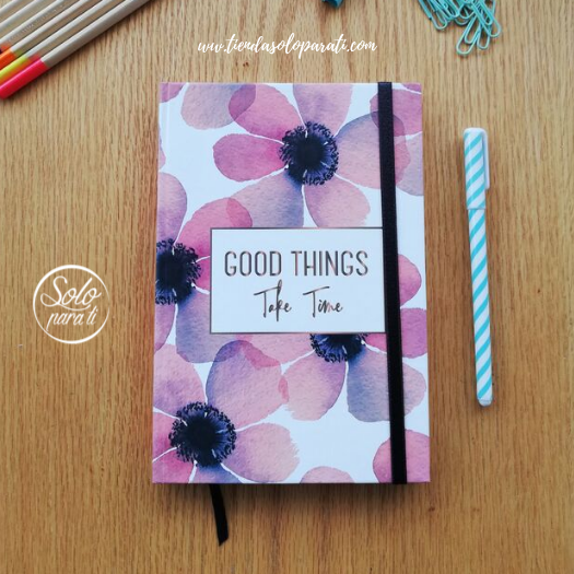 Libreta flores Good Things folio solo para ti (3)