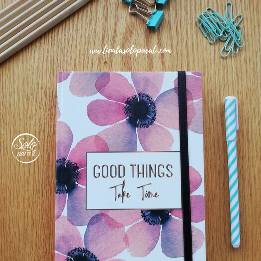 Libreta flores Good Things folio solo para ti (4)